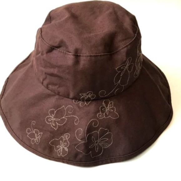a9f341c7 Brown REI Bucket Hat Embroidered Flowers Large XL.  M_5ad1651200450ffd7fbee767